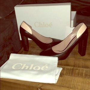 Authentic Chloe heels- only worn once!!
